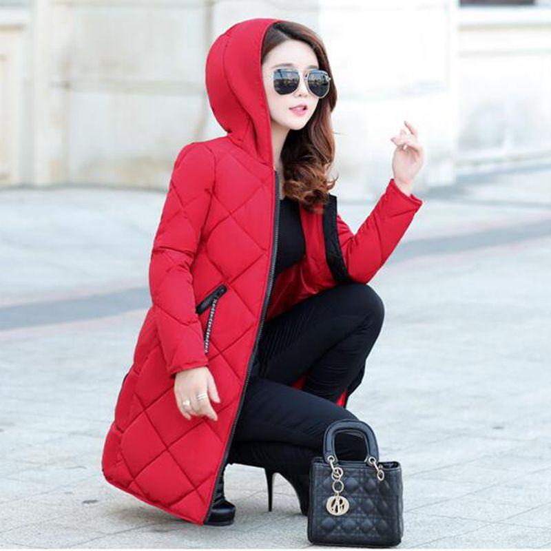 Coton Chaude Hiver Nzyd646 Manteau Survêtement Red Femelle À long Nouvelle Style army Lâche Fashion Occasionnel Green Femmes black Veste Capuche 2018 Moyen Taille Grande x7fqwEH7d