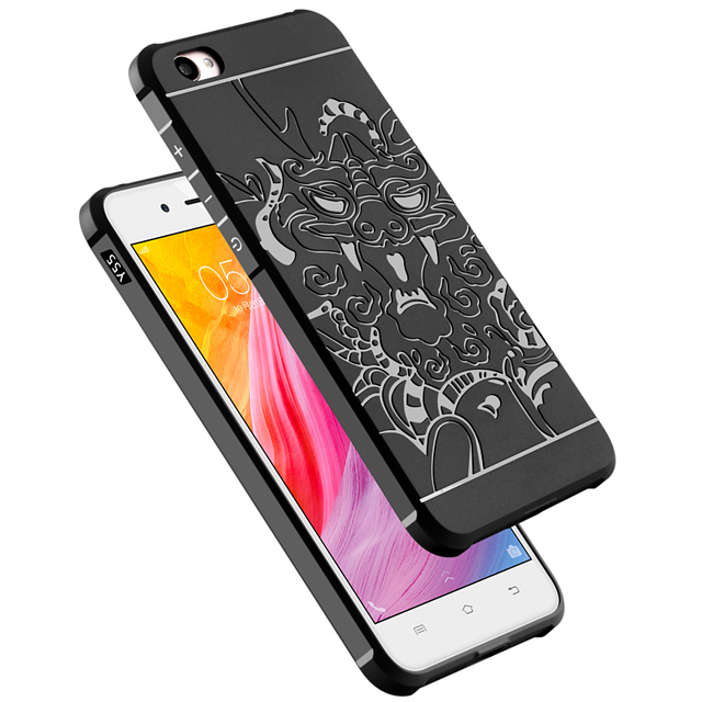 online store 80ce4 6c823 US $4.49 |Aliexpress.com : Buy COCOSE 3D Carved Dragon Soft TPU Case for  VIVO Y55 Y 55 Cover Matte Silicone Case for VIVO Y55S Y55L Dual Sim Back ...