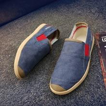 BVNOBET Summer Canvas Men Shoes Breathable Slip-On Basic Couple Shoes