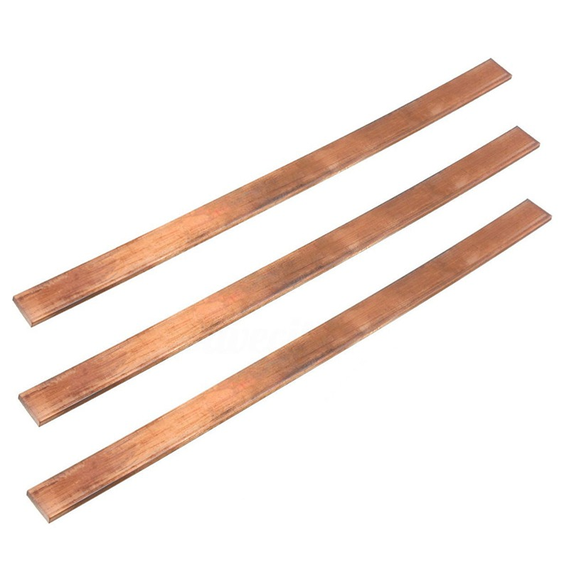 99.6% T2 Purple Copper Cu Flat Bar Plate 3mm x 15mm x 250mm Metal Strip