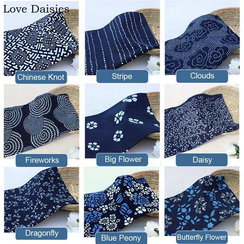 STUNNING INDIGO BLUE//BLACK DENIM COTTON FABRIC DRESS CRAFT CLOTHING CUSHION HOME