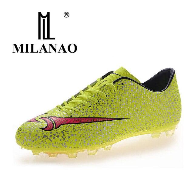 Tamanho 33-44 Homens MILANAO Menino Caçoa o Futebol Chuteiras Relvado De  Futebol de Futebol adec0e09230ba
