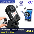 Smallest Wifi Camera Q7 Cam Upgrade 720P HD Mini DV Wireless IP Camera Espia Video Spy IR Pocket-Size Remote by Phone hidden