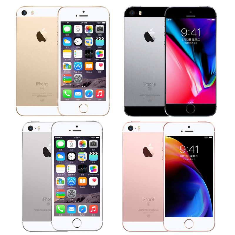 Apple Iphone SE Unlocked Smartphone 4.0 Inch Apple A9 Dual Core 16GB/32GB/64GB ROM 12MP Camera Ios Touch ID 4G LTE Mobile Phone