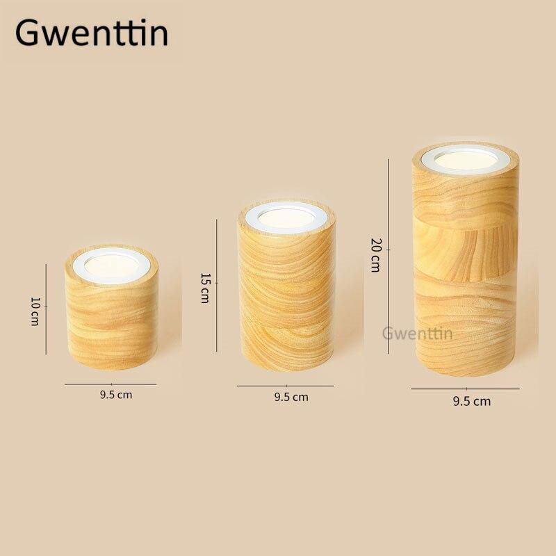 Nórdico quadrado redondo luzes de teto madeira