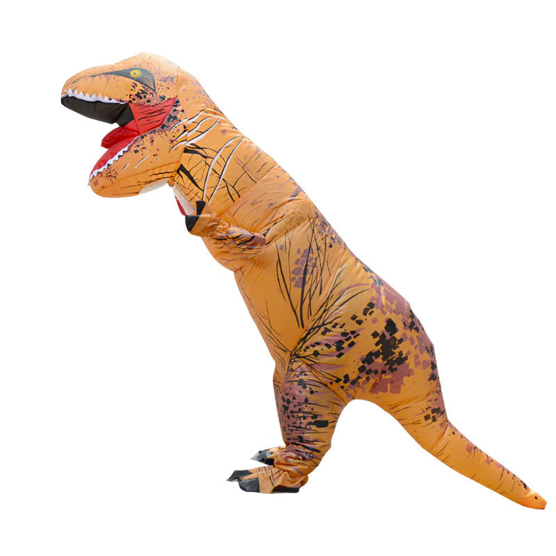 Party Adult t rex Dinosaur Costume Cosplay Fantasy Inflatable Dinosaur T REX Blowup Mascot Halloween Costumes for Women Man