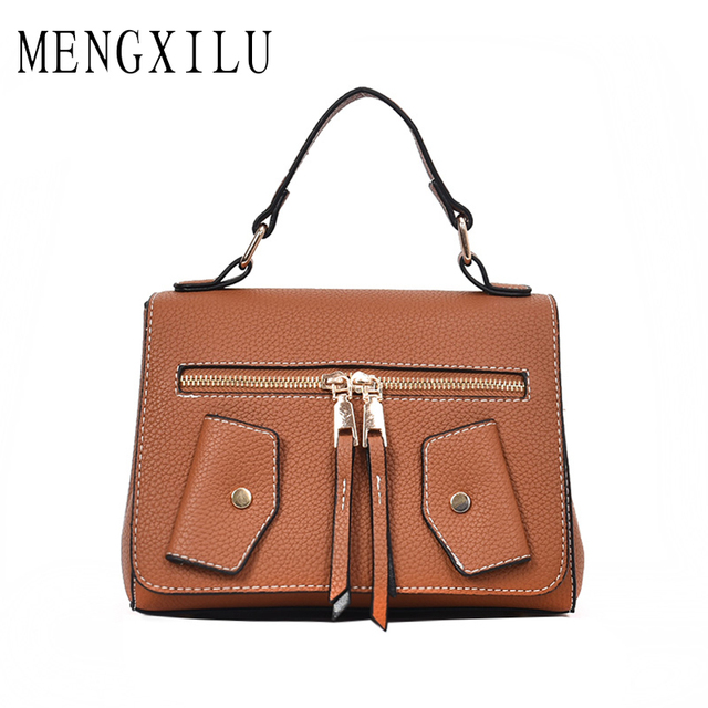 MENGXILU Ladies PU Leather Handbags Clothing Casual Tote Bags Luxury  Designer Jacket Tote High Quality Large Women Messenger Bag-in Top-Handle  Bags ... 1cccfc12b4d17