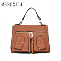 MENGXILU Ladies PU Leather Handbags Clothing Casual Tote Bags Luxury Designer Jacket Tote High Quality Large