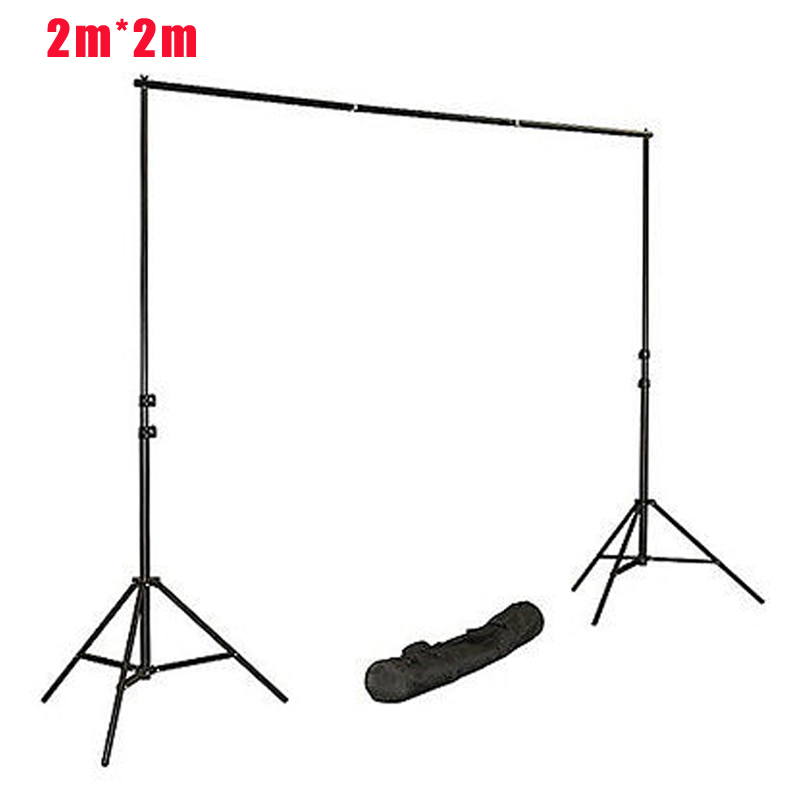 Fotografia Photo Background 2*2m Photography Support Background Backdrop System Stands Studio 2m Cross Bar+2m Light Standx2 ashanks pro photography studio photo backdrops frame background support system 2m x 2 4m stands for photo shoot carry bag