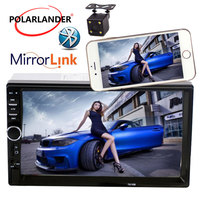 Car Audio LCD Touch Screen Car Radio Player Bluetooth 7 Inch Optional 170 degree CCD rearview camera 2 Din Mirror Link