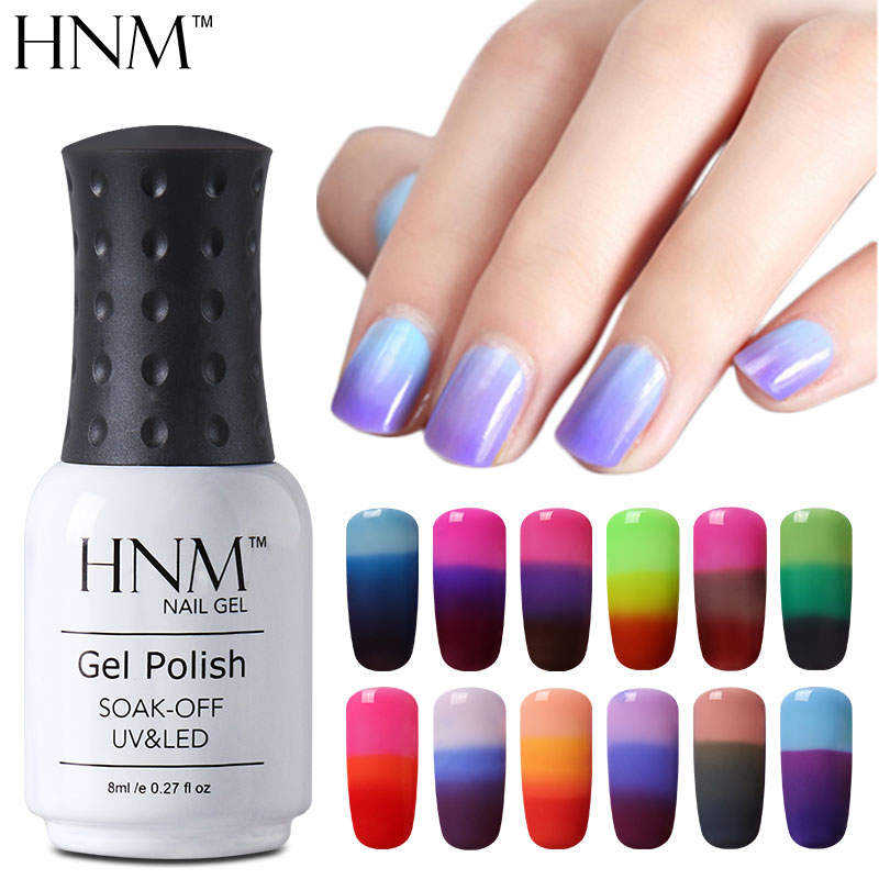 hnm temperature color chang gel nail polish 8ml chameleon gel polish uv vernis semi permanent. Black Bedroom Furniture Sets. Home Design Ideas