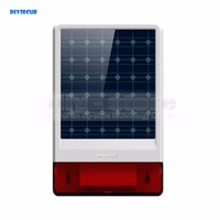 Waterproof Wireless Outdoor Big Strobe Solar Powered Siren Alarm LED Flashing For Home Alarm System