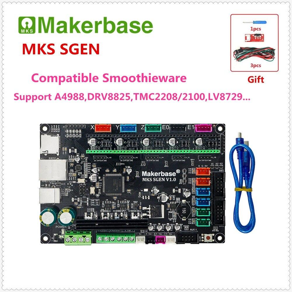 3D de control de impresora de MKS SGEN de 32 bits ARM placa base microcontrolador integrado smoothieboard compatible Smoothieware