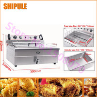 Multifunctional Stainless Steel Industrial Electric Fried Chicken Fryer Machine 20L French Fried Chicken Frying Machine