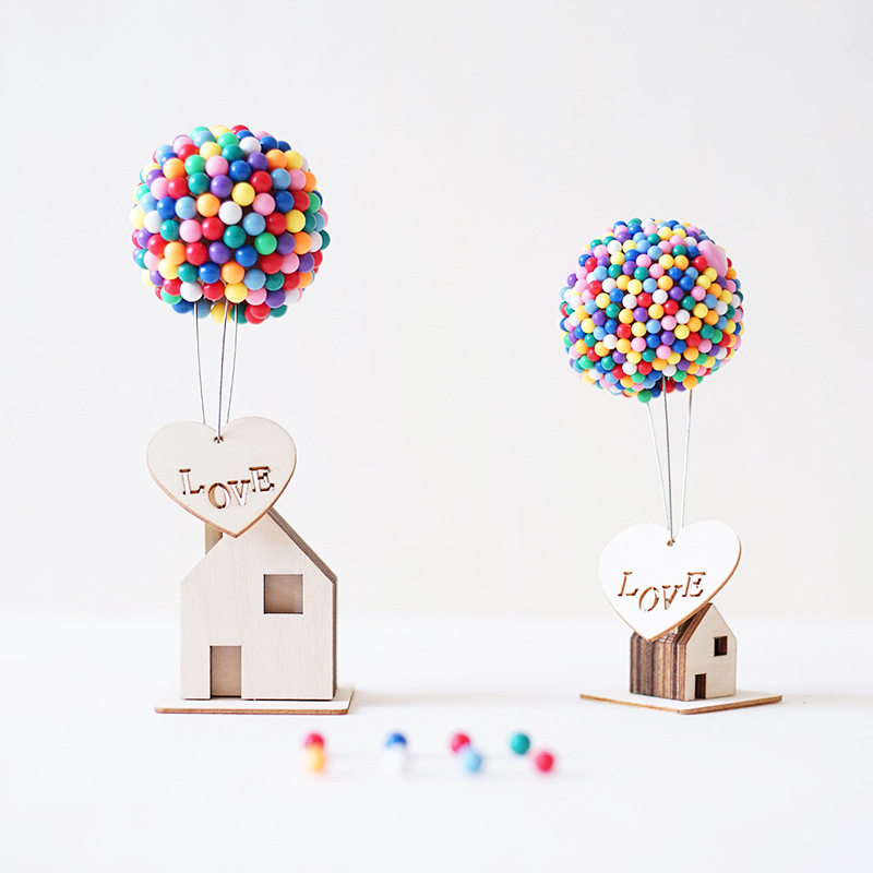 Creative Wood Diy Handmade Fire Balloon Decoration Birthday Gifts