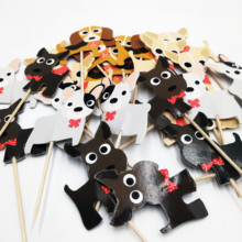 24pcs Pup  Dog Party Supplies Card Collections Cake Topper for Decoration Dessert lovely Gift Happy Birthday