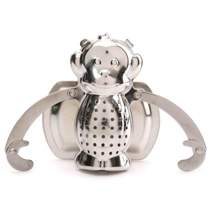 Monkey Tea Leaf Diffuser Infuser Stainless Steel Strainer Herbal Spice Filter