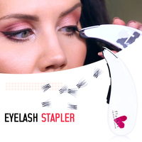 New Eyelash Stapler Mini False Eyelashes Natural Curl Eyelash Extensions Fake Lashes Tools Contains 45 Clusters
