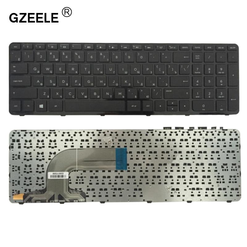 GZEELE New Keyboard For HP Pavilion PK1314D3A05 SG-59830-XAA SG-59820-XAA 719853-251 708168-251 749658-251 With Frame RU Russian