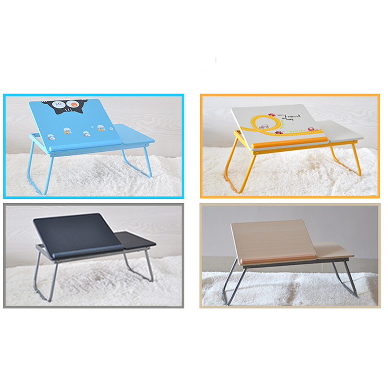 Fashion Simple Multi-function Folding Bed Dormitory Lazy Little Table With a University Student Dormitory Desk Notebook lazy folding bed on a laptop computer desk student dormitory receive table can be portable writing desk