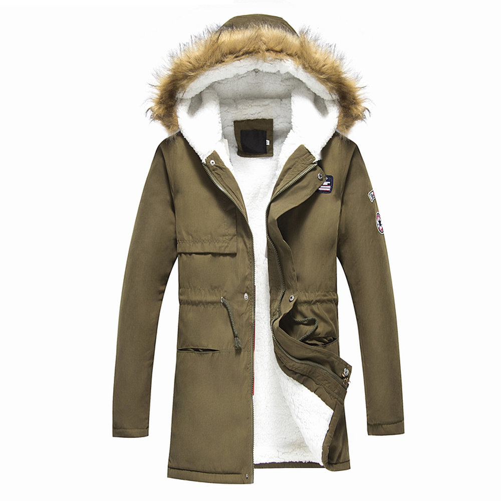 Male Coat 2018 Men's Warm Korean Style Padded Jacket Male Hooded Casual Winter&Autumn Coats Add the cashmere Thick   parkas