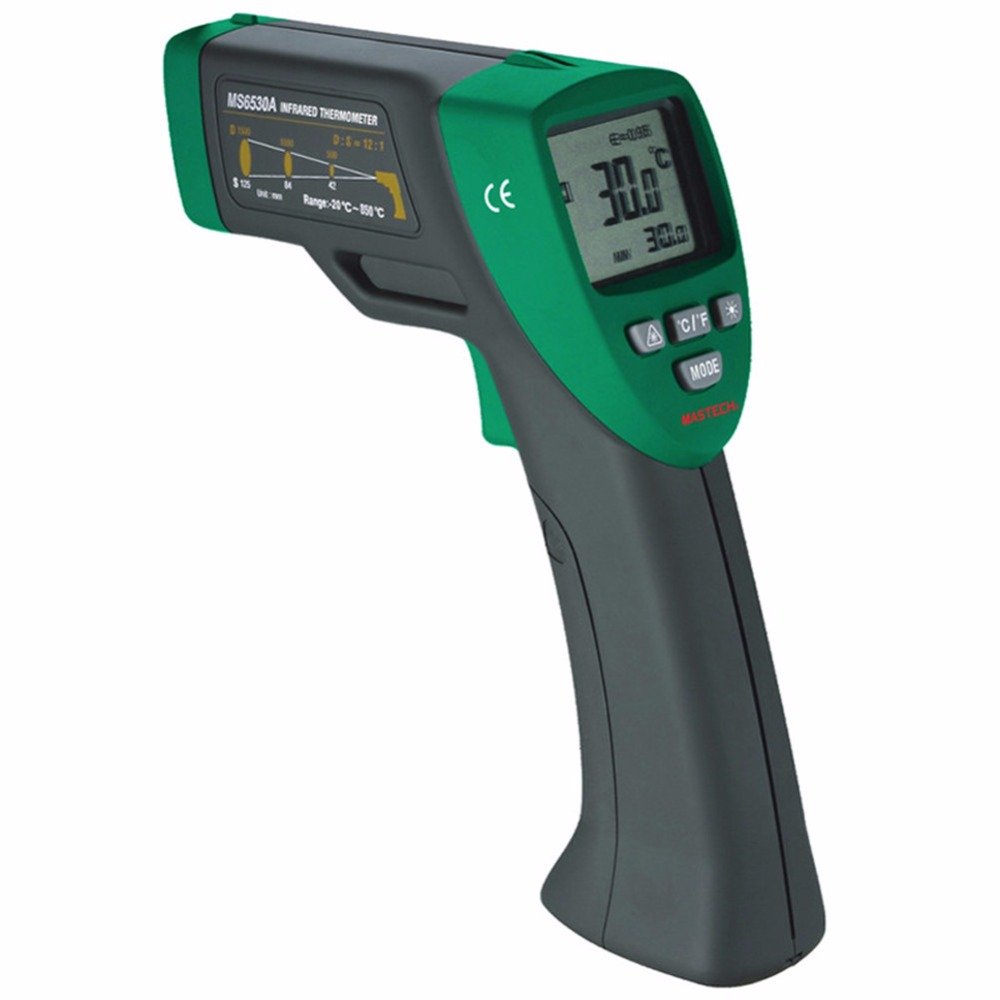 Mastech MS6530A Infrared thermometer Ir thermometer temperature Meter Laser Gun LCD Digital thermometer -20~850C цена