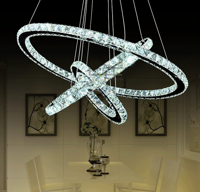 lampadario cristalli : Aliexpress.com : Buy Diamond Ring Crystal Chandelier Lighting Modern ...