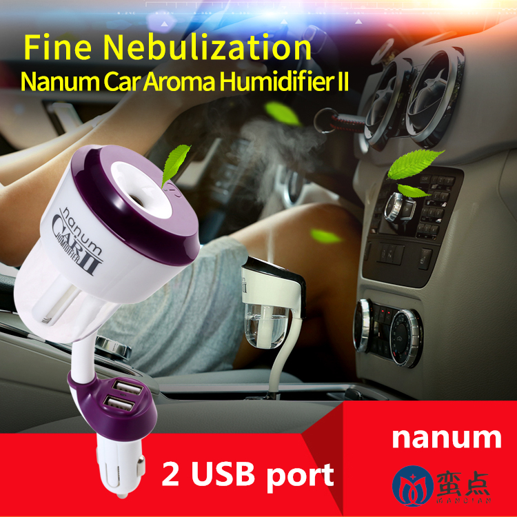 Car Humidifier Mini Cool Mist Aroma Diffuser Air Freshener Purifier Aromatherapy suit for Water Soluble Essential Oils 50ml