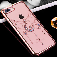 KINGXBAR For IPhone 7 Plus Case Crystal Diamond Hard Plating Cover Case For IPhone 7 Plus
