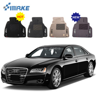 For Audi A8 Car Floor Mats Front Rear Carpet Complete Set Liner All Weather Waterproof Customized Car Styling