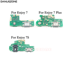USB Charging Dock Socket Jack Port Plug Connector Charge Board Flex Cable For Huawei Enjoy 7 Plus 7Plus 7S connector sr30 10jf 7s 71