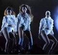Super Star Mujeres Dj Desgaste del Funcionamiento de la Etapa Del Desgaste Del Traje Clásico La Moda Femenina Vestido de Baile Bar Discoteca Ropa Traje
