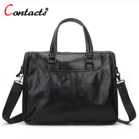 CONTACT S Genuine Leather Men Bag Casual Handbags Cowhide Crossbody Bags Men S Travel Bags Tote