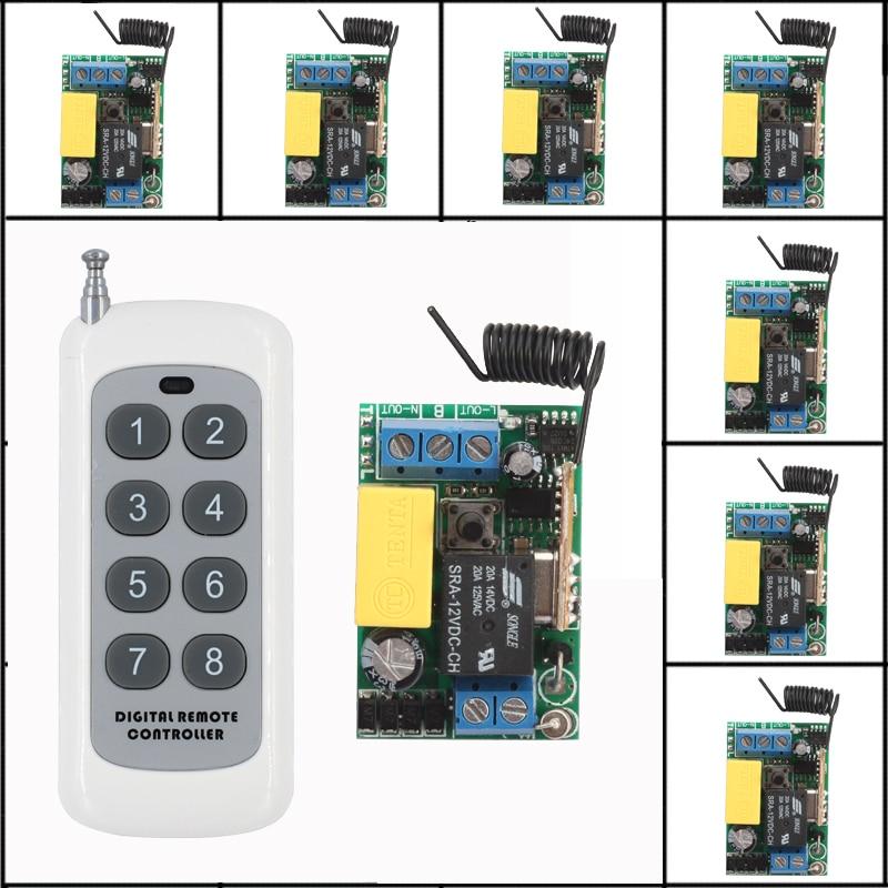 AC 220V 8CH RF Wireless Switch Remote Control Switch 315MHZ/433Mhz Transmitter With 8 X ReceiverAC 220V 8CH RF Wireless Switch Remote Control Switch 315MHZ/433Mhz Transmitter With 8 X Receiver