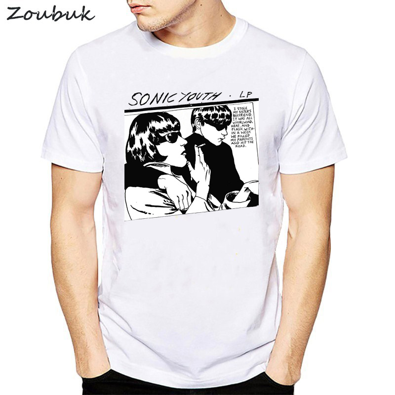 Sonic youth t-shirt männer frauen lustige goo klassische rock roll gesang band bass gitarre Punk Rock unisex fashion t-shirt männer camiseta