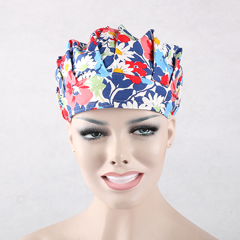 High Quality Women Surgical Bouffant Caps,one Size Adjustable