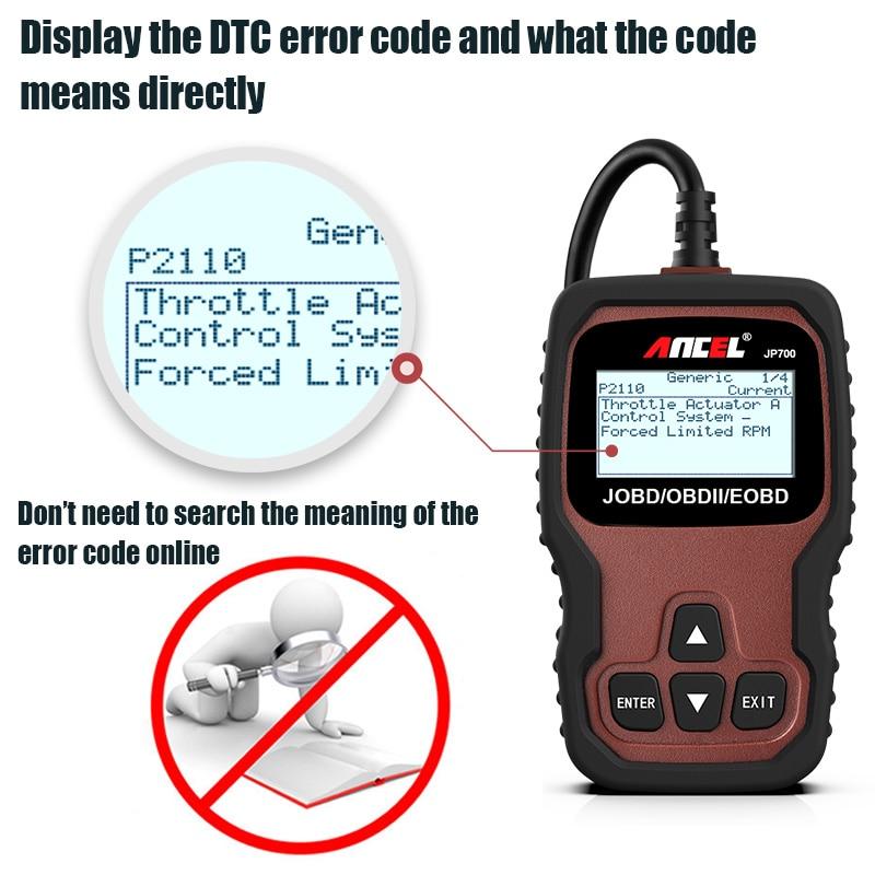 ANCEL JP700 OBD2 Scanner Für Toyota Nissan Honda Subaru Mazda Auto Diagnose Multi Sprachen Automotive OBD Scanner Freies Update