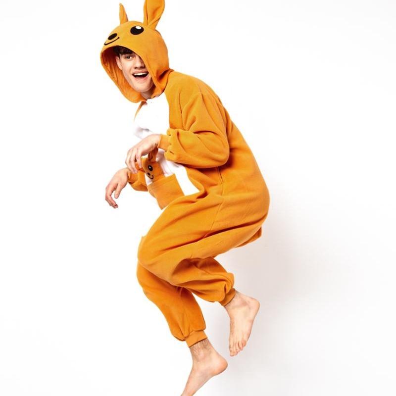 Kangaroo Bir Parça Heyvan Cosplay Kostyum Kıyafeti Pijama Keçid - Karnaval kostyumlar - Fotoqrafiya 1