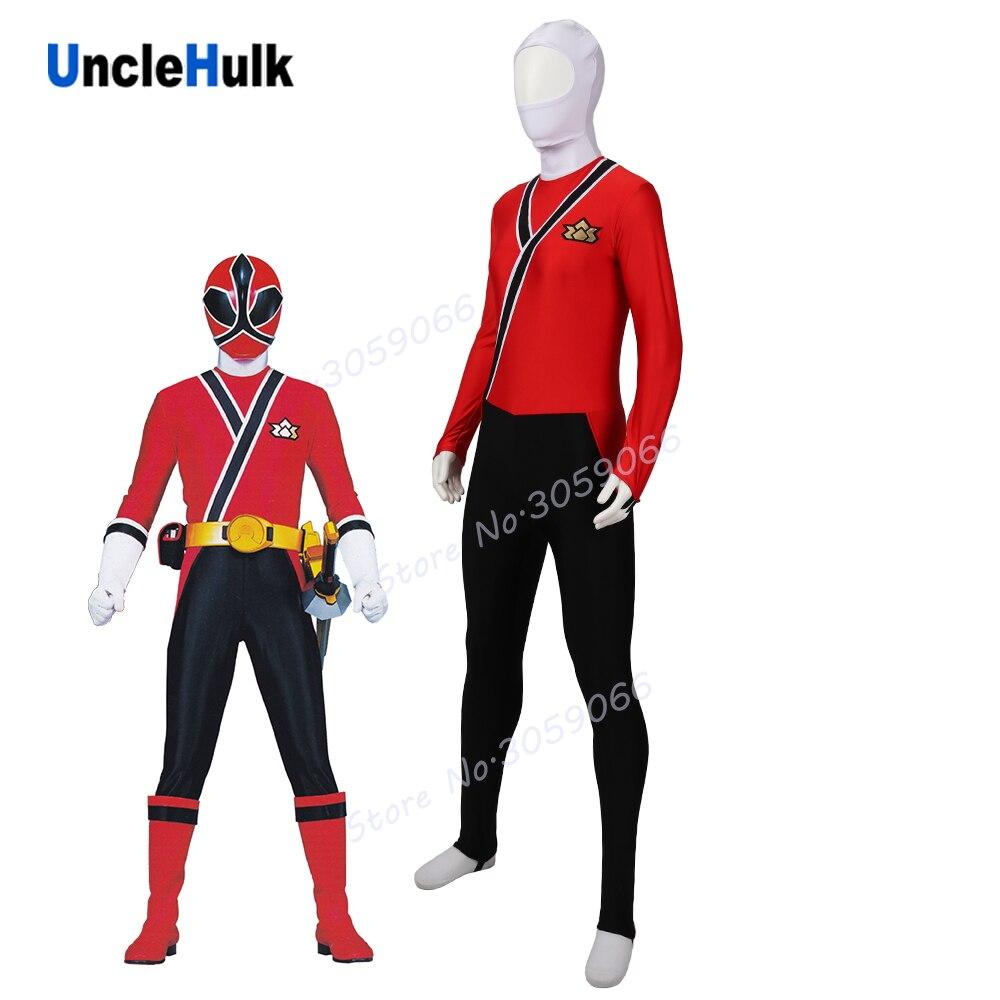 Samurai Sentai Shinkenger Shinken Red Ranger Lycra Zentai Costume | UncleHulk