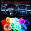 Стайлинга автомобилей el продукты 3 м EL Провода Холодный Неоновый Свет Для Suzuki Swift SX4 S-Cross Джимми Альто Celerio Grand Vitara