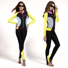 Hisea womens wetsuit lycra skin dive suit slim full body