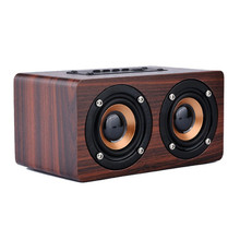 Avanshare Wooden HIFI Bluetooth Speaker 10W Dual Loudspeakers Surround Mini Wood Wireless Speaker for Phone computer free ship