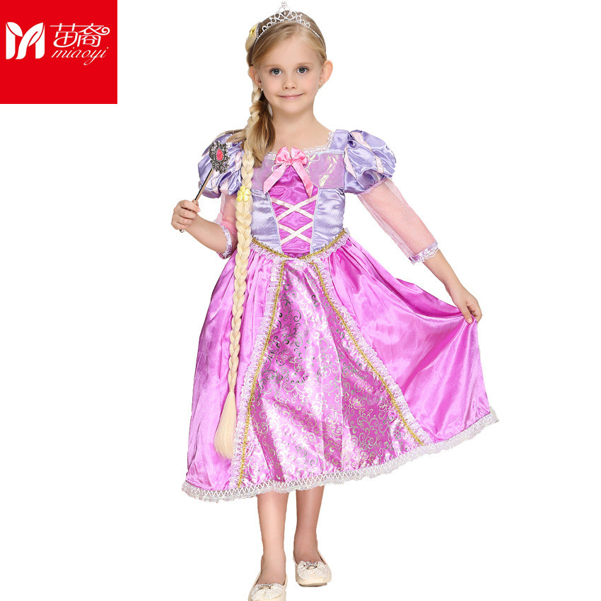 Baby GirlsVestidos fantasia  Carnival Christmas Halloween Cosplay Costume Party Lace  Dress Princess Clothes For Kids Costume new 2016 kids girl beauty and beast cosplay carnival costume kids belle princess dress for christmas halloween fantasia infantil