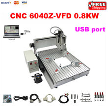 2017 Wood Lathe Cnc Machine 800W 6040 USB Mini Cnc Router Engraver/engraving Drilling And Milling Machine with limit switch