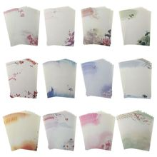 Buy 16Pcs/pack Beautiful Chinese Style Letter Paper Ink Painting Writing Students Stationery Office Tools directly from merchant!