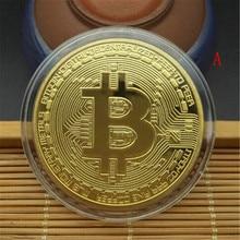 Золотой/посеребренный Биткоин Коллекционная монета Биткоин пират сокровища в виде монет реквизит игрушки для Хэллоуина вечерние косплей дети