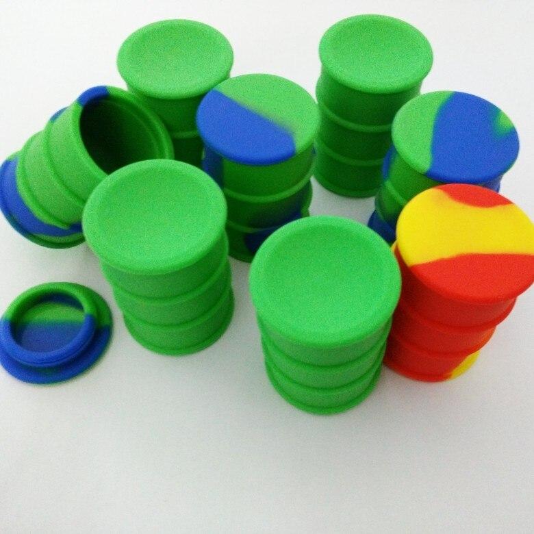 Oil Drum Barrel non-stick silicone concentrate container & silicone bho container E Cigarette Atomizer