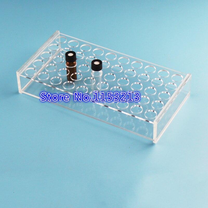 2 ml/3 ml Plexiglas échantillon bouteille rack pour place 50 flacons d'analyse bouteille, titulaire pour la Chromatographie flacon Ouverture 16.5mm