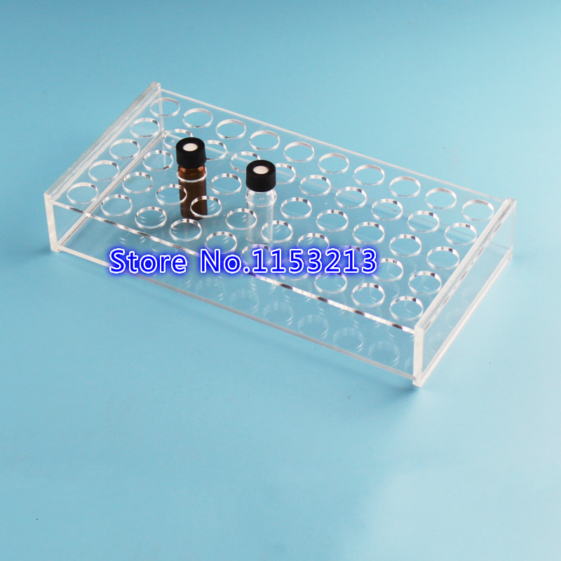 2ml/3ml Plexiglass sample bottle rack for place 50 vials analytical bottle, holder for Chromatography vial Aperture 16.5mm integrated online analytical mining olam