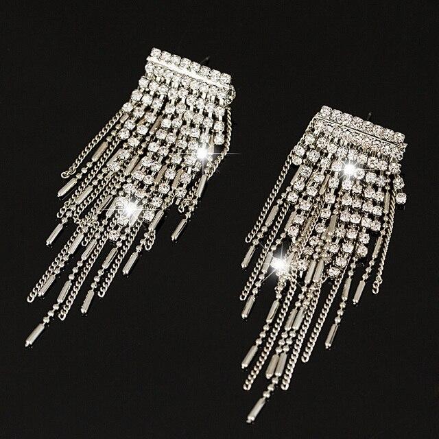 Yfjewe Марка Шарм кисточкой личности хрустальные серьги для женщин Свадебные украшения со стразами лучшие подарки # E258